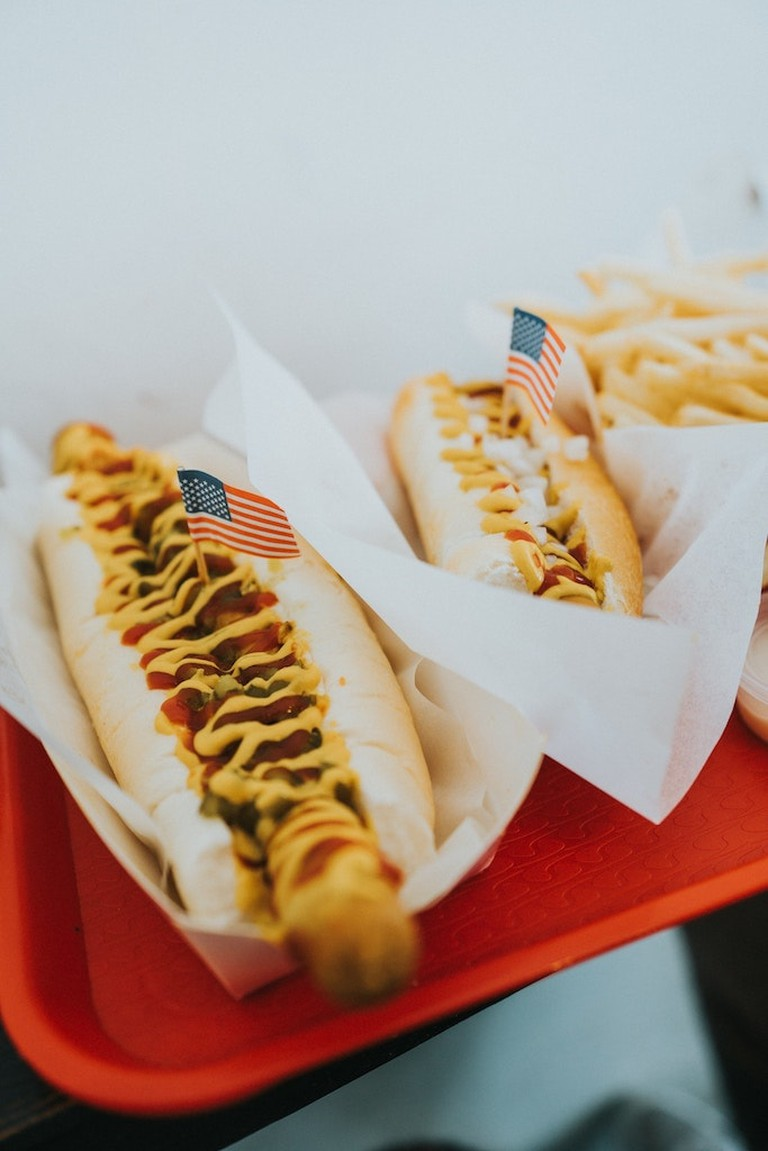 Enjoy some hot dogs at Freedom Fest