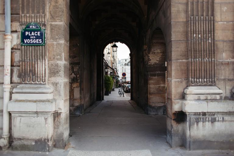 The Place des Vosges is the oldest planned square in Paris