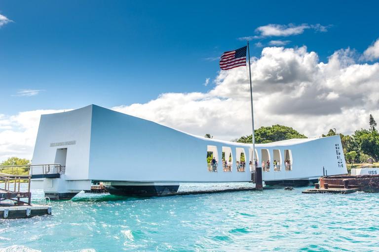 USS Arizona Memorial in Pearl Harbor, Hawaii USA I