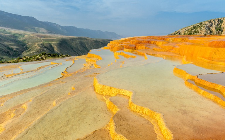 Travertine terrace at sunrise near Orost, Badab-e Surt, Iran | © Jakob Fischer/Shutterstock