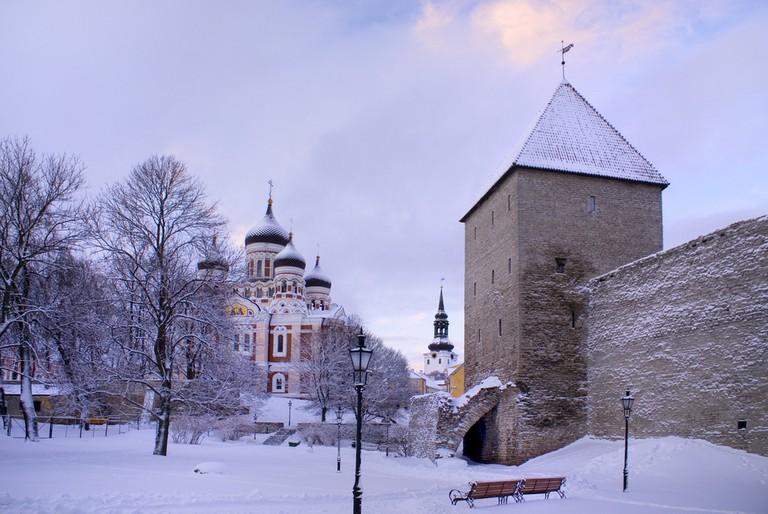 Tallinn in the snow