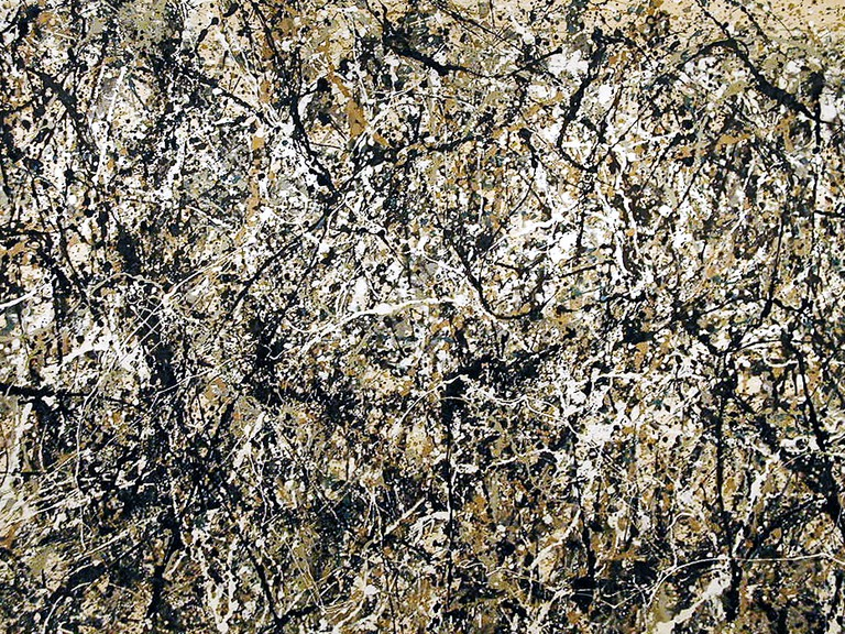 Zverev's work is often compared to that of Pollock's (above)