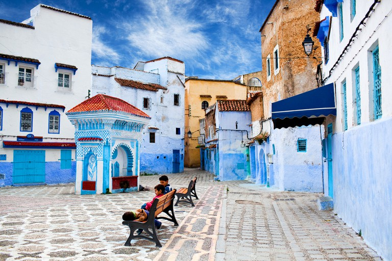 Square of Chefchaouen Medina