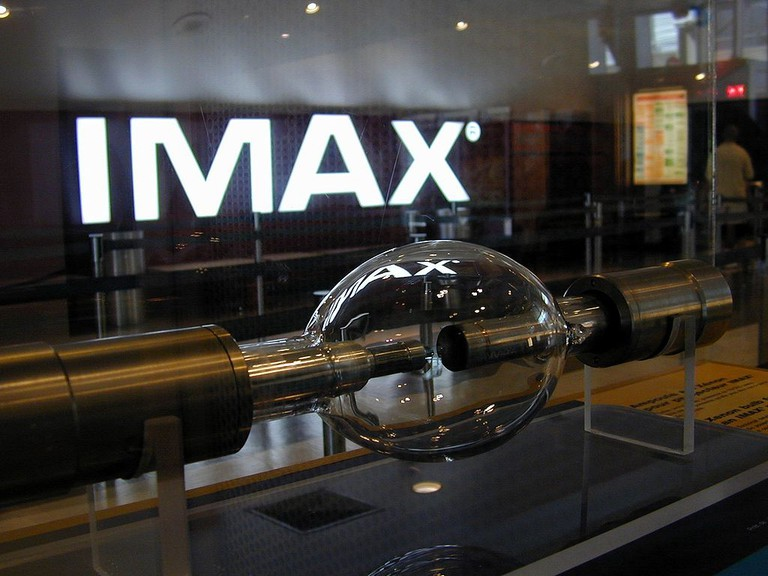 "Xenon Short Arc Lamp Showing the ""IMAX"" Logo Behind It 