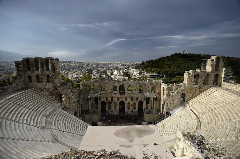 Odium of Harodes: sunrise in Athens © Sang Trinh