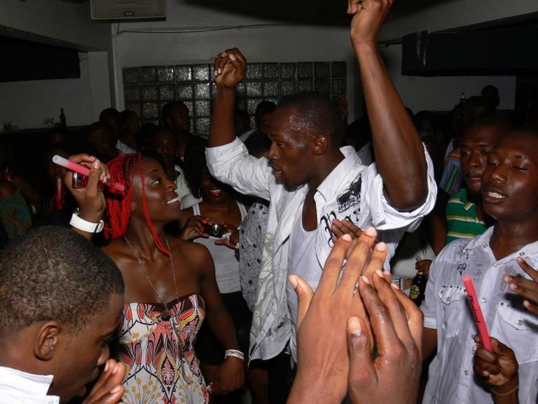 Usain Bolt tribute party in Kingston in 2008