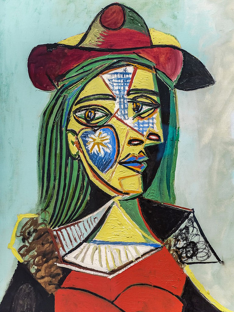 Pablo Picasso, Woman in Hat and Fur Collar, 1937