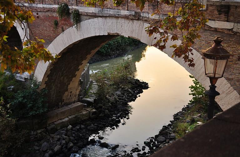 The Pons Fabricus in Autumn, Rome
