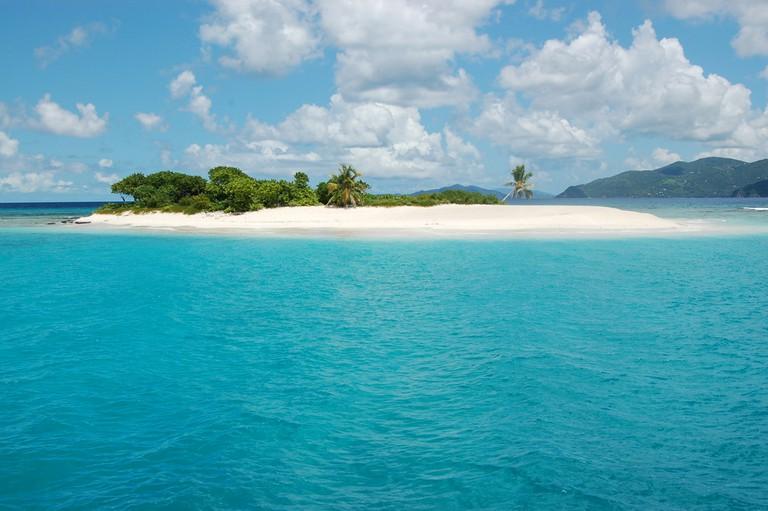 Sandy Spit. Jost Van Dyke. British Virgin Islands