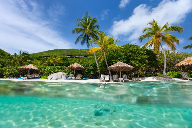British Virgin Islands in Caribbean