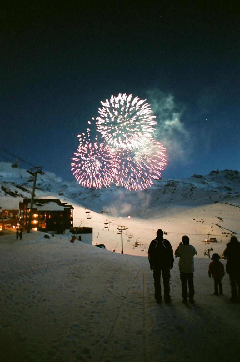 Fireworks in Val Thorens