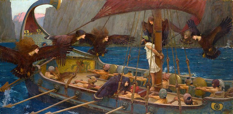 Odysseus and the Sirens. An 1891 painting by John William Waterhouse © National Gallery of Victoria, Melbourne/WikiCommons