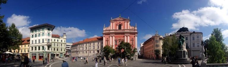 Prešeren Square in central Ljubljana