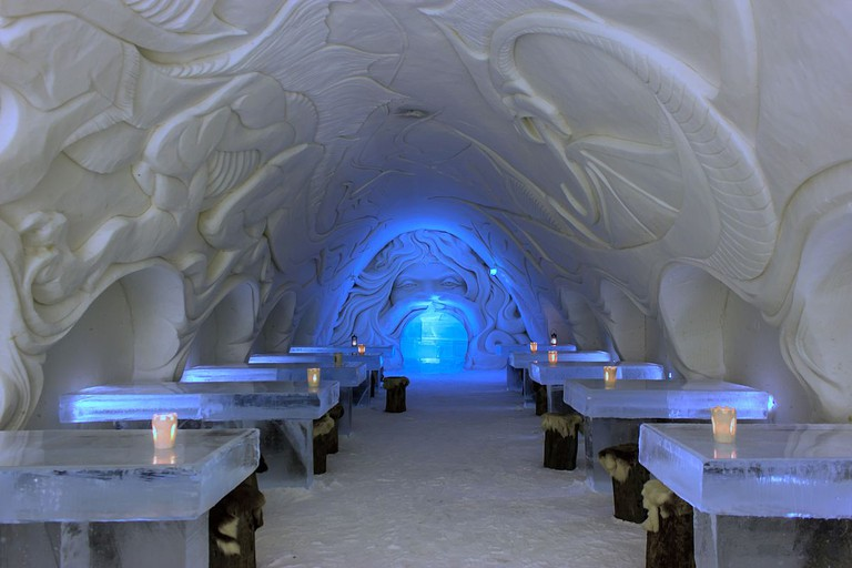 8. Dining Room in SnowCastle of Kemi, Finland © Art of Backpacking/WikiCommons