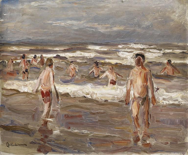 Max Liebermann, Badende Knaben im Meer, 1899