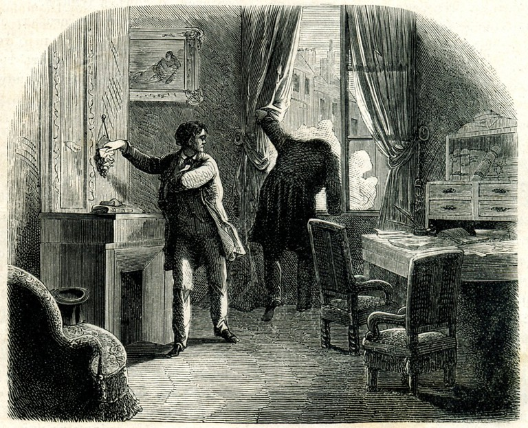 "Illustration to ""The Purloined Letter"" by E. A. Poe.