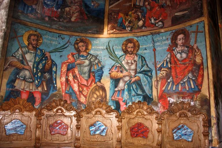 Frescoes at Krušedol monastery