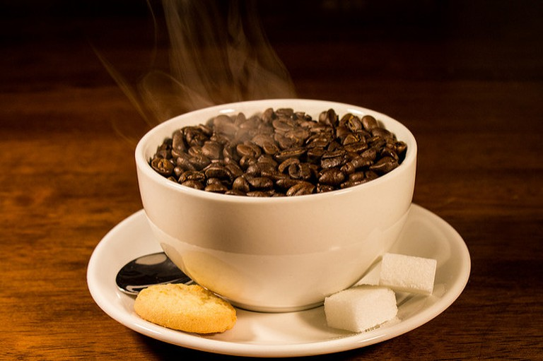 Cup of hot coffee,