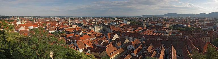 Panoramic view of Graz/