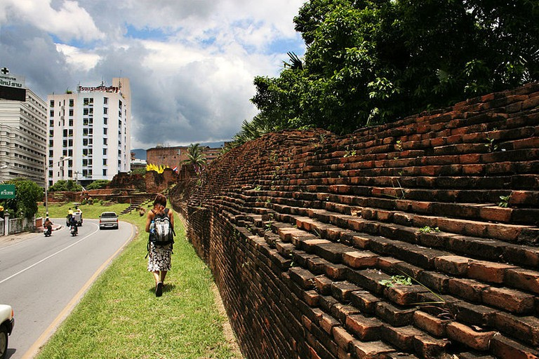Chiang Mai's old city wall| © Martin-Manuel Beaulne/WikiCommons