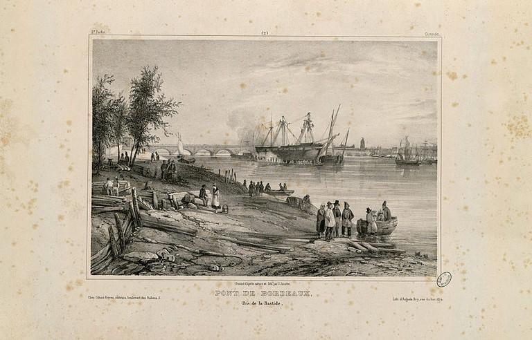 Pont de Bordeaux pris de la Bastide (Gironde)