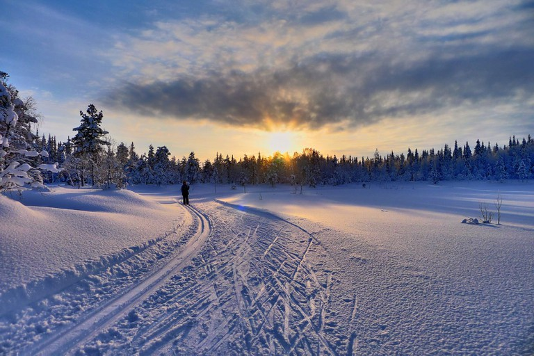 Cross Country Skiing in Ruka, Finland © Timo Newton-Syms/Flickr