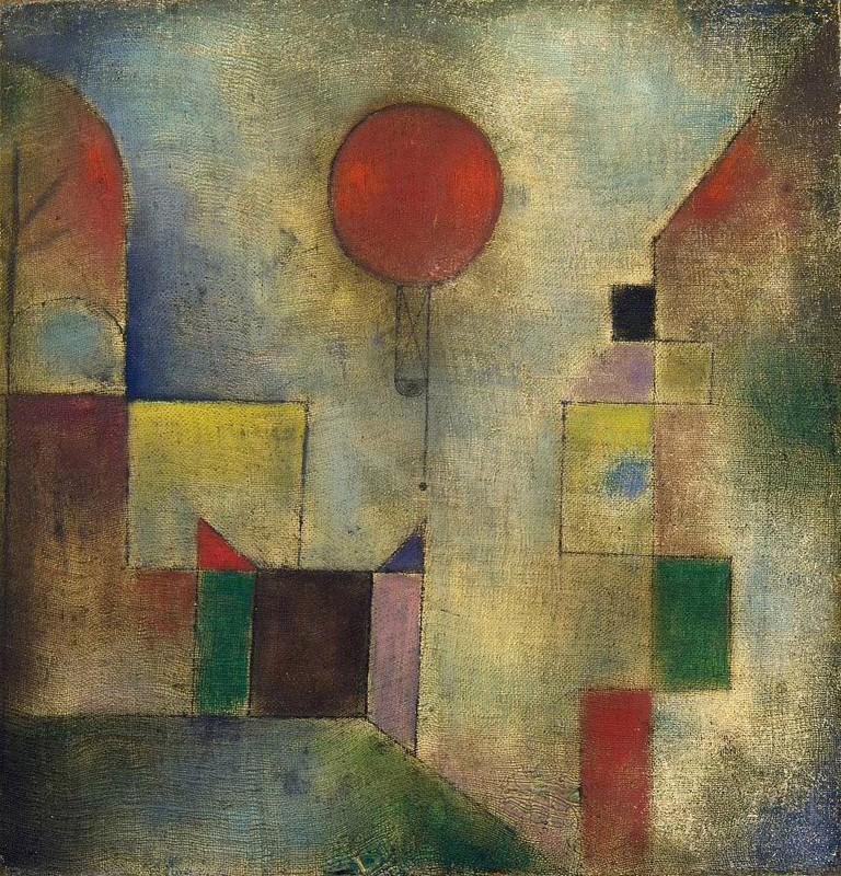 Paul Klee, Red Balloon (Roter Ballon), 1922