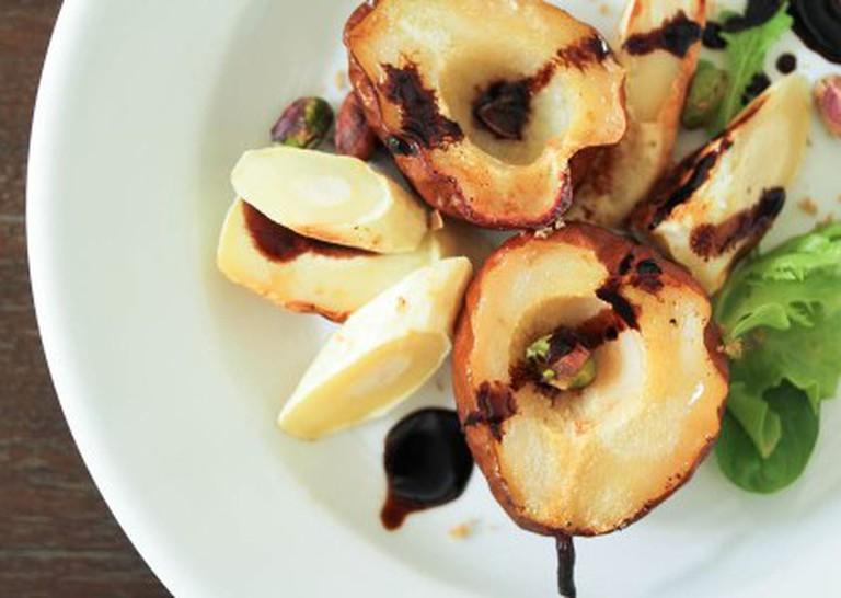 Rachel Carr's roasted pear parsnip salad