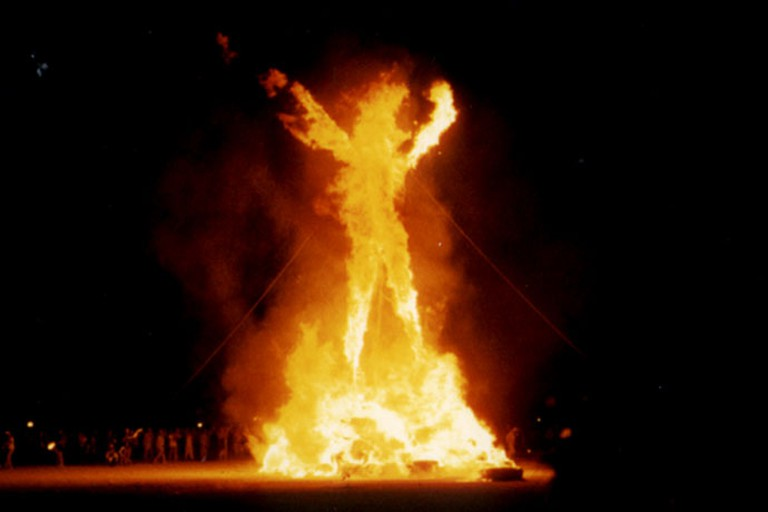 The Main Event: Burning The Giant Wooden Effigy