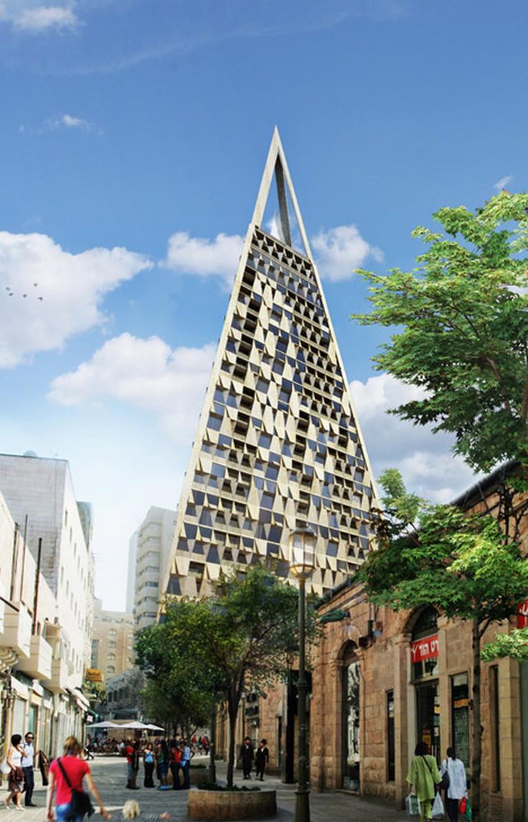 Yigal Levi-Planning Pyramid Building | © Vingtsix