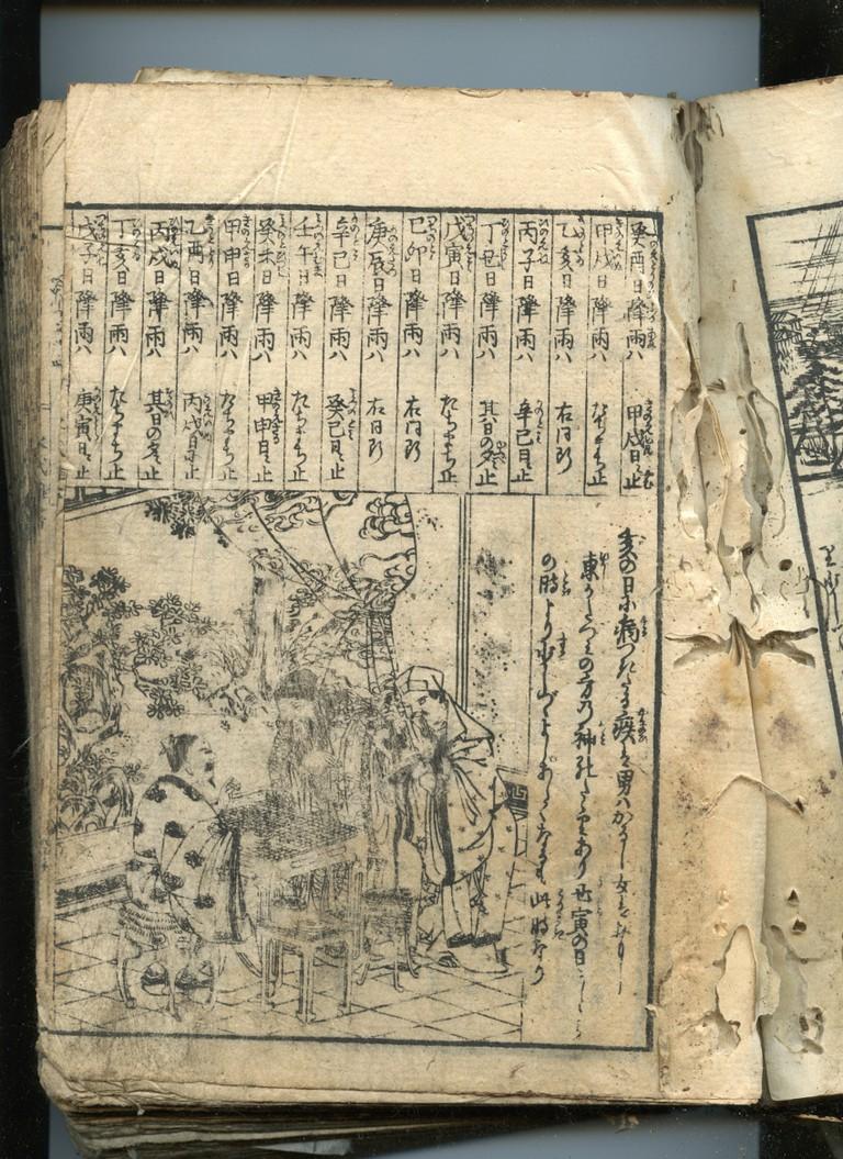 Edo Japan Encyclopedia 1792 Woodblock Print Book | © Self-scanned/WikiCommons