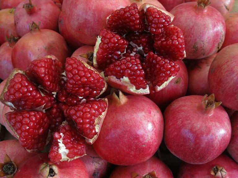 Pomegranate 'Rimon' at Machene Yehuda Shuk, Courtesy of Laini Shaw