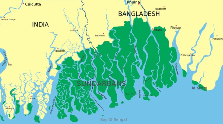 Map of Sunderbans ©Wikipedia
