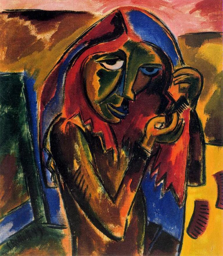 'Girl Combing' by Karl Schmidt-Rottluff
