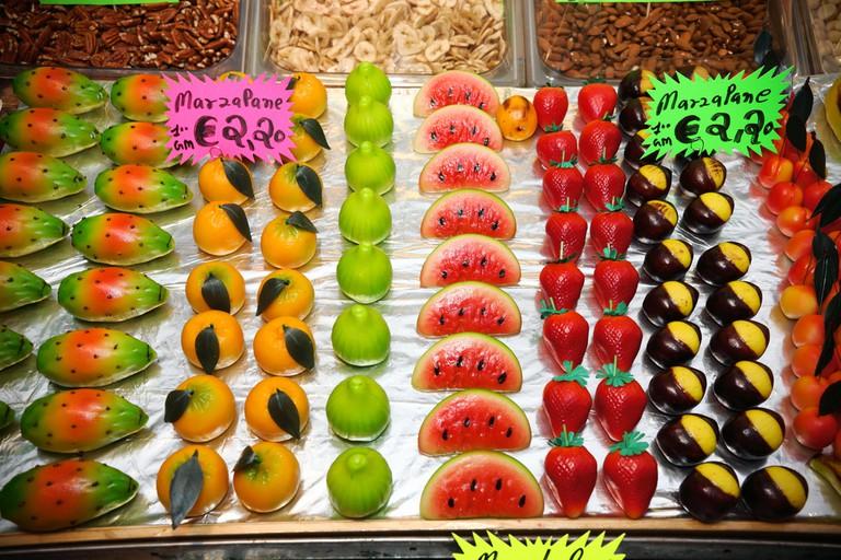 Sicilian fruit shaped marzipan