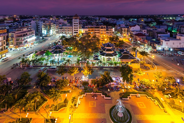 Chau Doc city by night