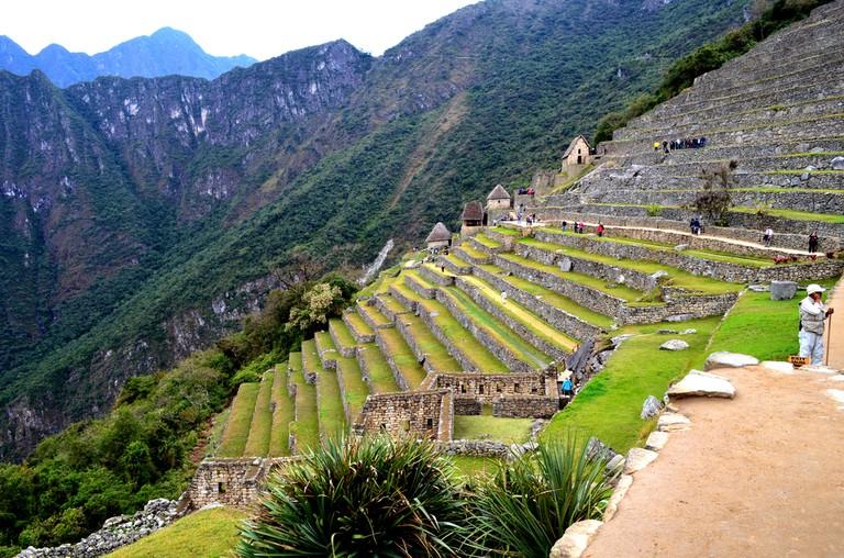 Tourists exploring the Machu Picchu, near Aguas Calientes, Peru