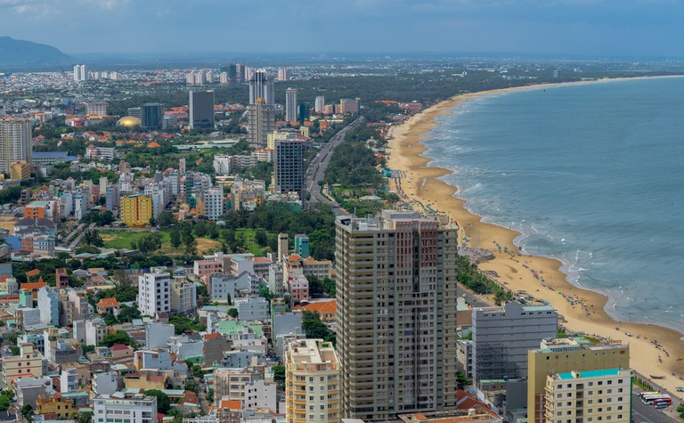 Vung Tau city and coast, Vietnam. Vung Tau is a famous coastal city in the South of Vietnam