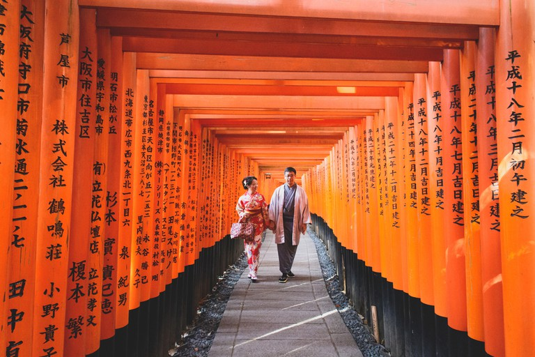 Walk through the Fushimi Inari Taisha