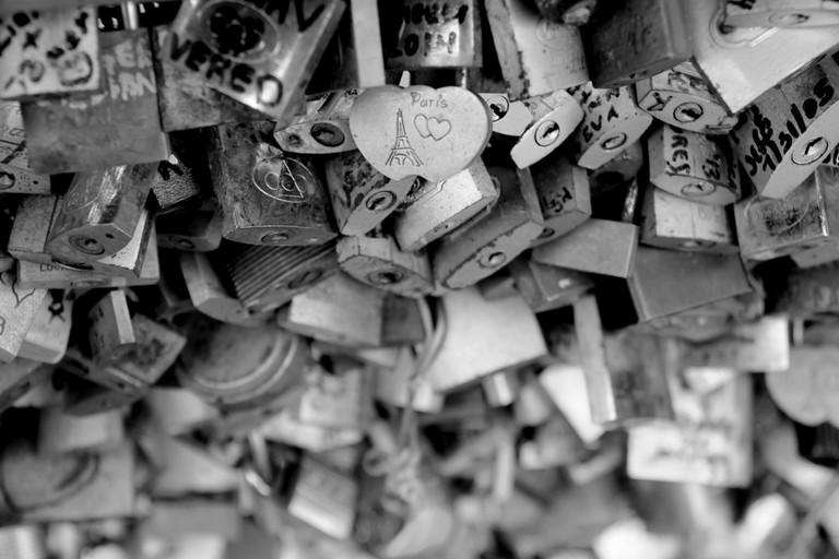 Paris padlocks, Black and White, France