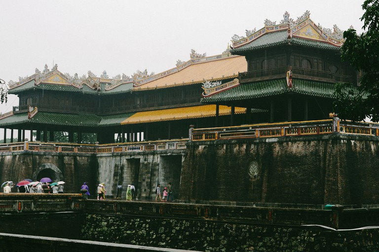 Hue Imperial, a walled fortress and palace in the city of Hue