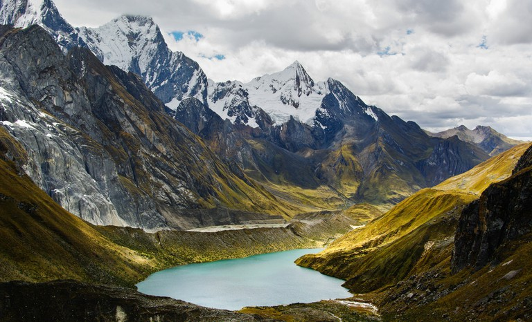 Lake in the Andes, Huayhuach, Peru