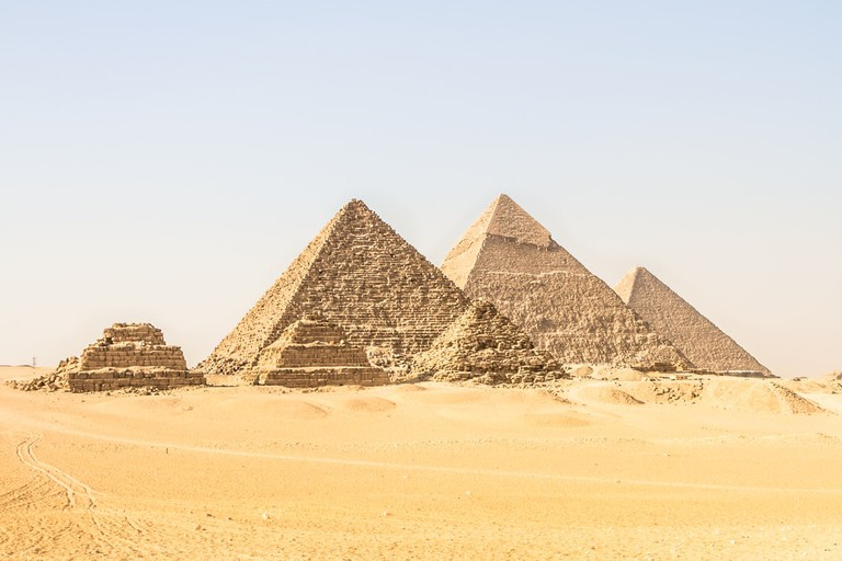 Giza pyramids in Cairo, Egypt