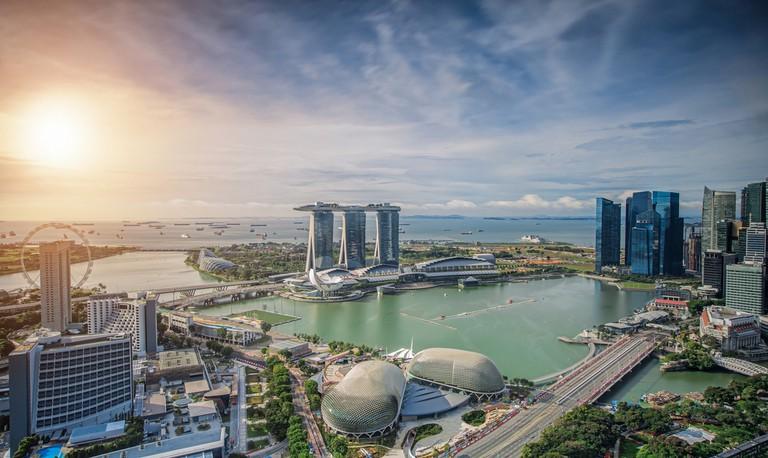 Singapore Skyline. Singapore's business district