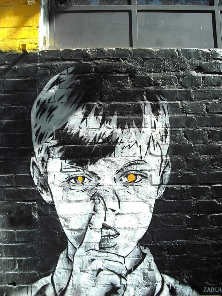 Street art by Zabou at Urban Spree