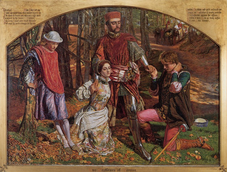 Valentine Rescuing Sylvia from Proteus|© William Holman Hunt 1851/Wikicommons