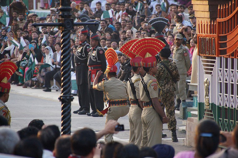 Wagah Border Crossing Ceremony | © Erik Mary/Flickr