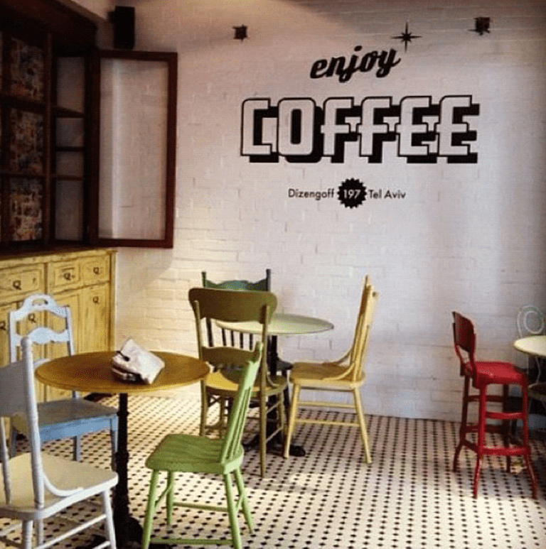 Coffee Wall | Courtesy of Nola American Bakery