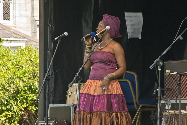 Woman singing African gospel music I