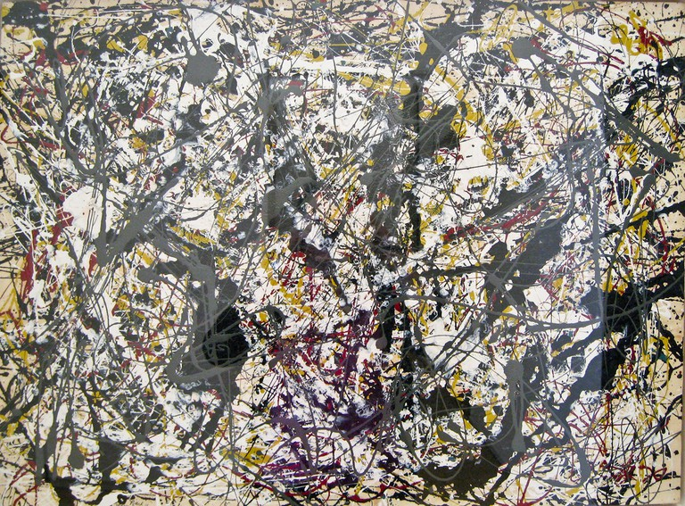 Jackson Pollock was Famous for His Abstract Expressionist Paintings